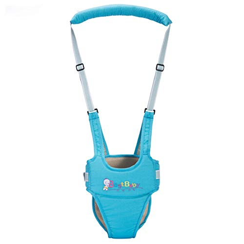 Breathable Handheld Baby Child Harnesses Learning Assistant Walker Toddler Walking Helper Kid Safe Walking Protective Belt Blue