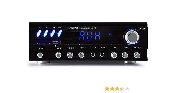 Fonestar BAS-215 2.0canales Hogar Alámbrico Negro - Amplificador ...