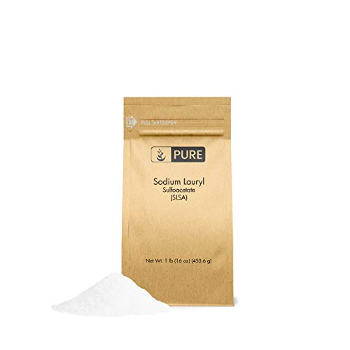 Sodium Lauryl Sulfoacetate (SLSA) (1 lb.) by Pure Organic Ingredients, Eco-Friendly Packaging, Ideal Bath Bomb Additive, Gentle on Skin, Surfactant & Latherer ()