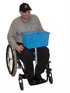 ADA Lap ACCESSORIES - Shopping Basket with Velcro Hook (Wheelchair Shopping Basket)
