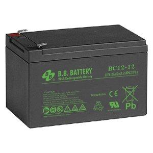 B.B. Battery 12V 12Ah Battery T2 Terminal, BC12-12-T2
