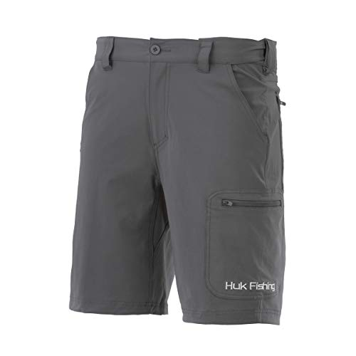 Huk Men's NXTLVL 10.5' Short, Charcoal, Large