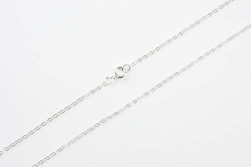 (925 Sterling Silver Cable Chain Necklace W/ Sterling Silver Spring Clasp (18 Inches))