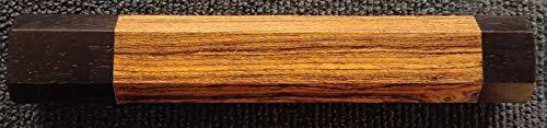 Bocote Leather Knife - Rungfa Replacement Japanese Style Wa Knife Handle Octagonal Bocote Gaboon Ebony