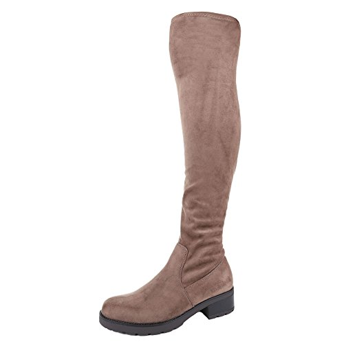 Ital-Design - botas clásicas Mujer marrón claro