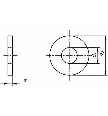 Reidl Scheiben mit Au/ßendurchmesser ca 3 d 8,4 x 24 mm 2 ISO 7093 A4 blank 100 St/ück