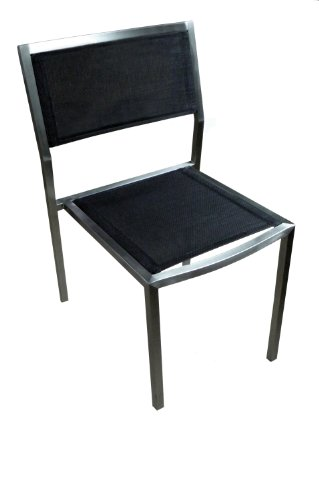 ATC Elegance Elite Side Chair with Brushed Stainless Frame (Pack of 4) (Stainless Stacking Chairs)