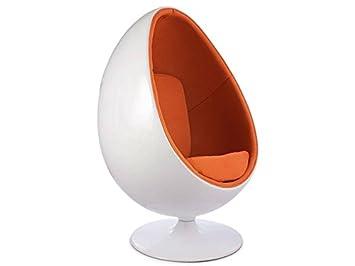 Ovale Ei Stuhl Orange Amazon De Kuche Haushalt