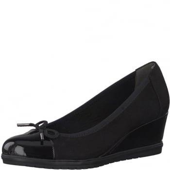 29 Shoe 1 22449 Wedge Black Tamaris xEqn0XW
