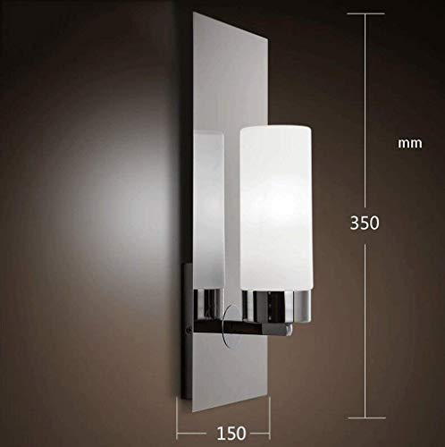 (Wisdom Modern Creative Candlestick Wall lamp Glass Stainless Steel Decorative Wall lamp,3515cm,Silver)
