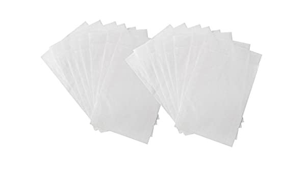25 Kleine blanca mini papel de papel Bolsas bolsas de plano ...