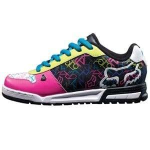 Fox Racing Women's Overload Shoes - 7.5/Black/Pink