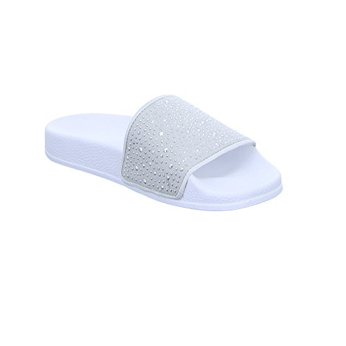 Slydes Womens Amber Slider Sandals in White waylZ