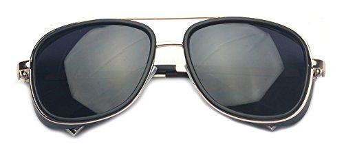 b138eb07ce5 Outray Unisex Cover Side Shield Square Sunglasses A15 Black ...