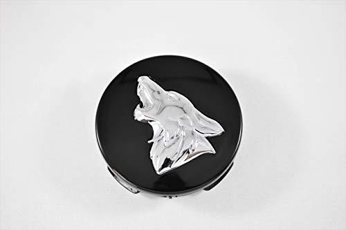 MF Auto Designs Mustang Coyote Logo Wheel Center Caps (Black/Chrome)