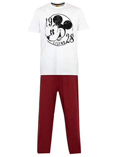 Disney Mens' Mickey Mouse Pajamas Size Large White ()