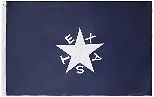 Cascade Point Flags 3x5 Feet Nylon 1836 Lorenzo de Zavala Texas Flag – Embroidered Oxford 210D Heavy Duty Nylon, Vivid Colors and Fade Resistant Durable and Long Lasting - 4 Stitch Hemming