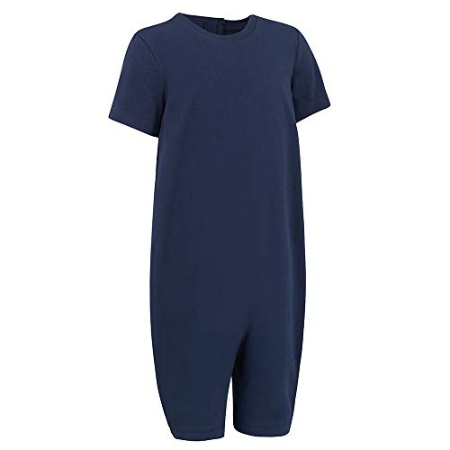 Special Needs Clothing for Older Children (3-16 yrs Old) - Zip Back Jumpsuit for Boys & Girls by KayCey - Navy (3-4 Years -