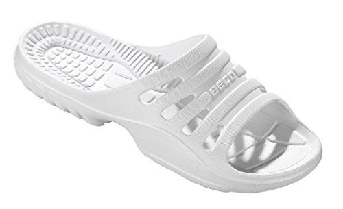 Beco Damen Pantoletten, Badelatschen Unisex Weiß