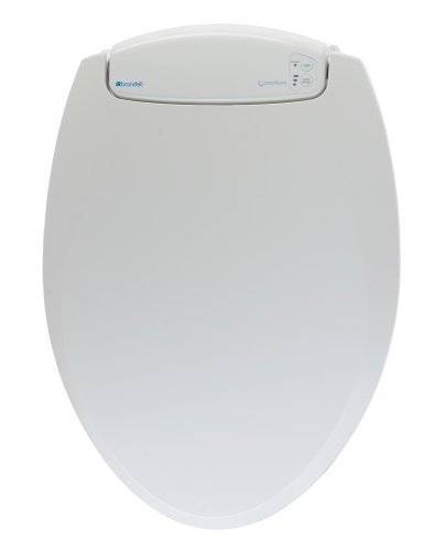 Brondell L60-RW LumaWarm Heated Nightlight Round Toilet Seat, White by Brondell