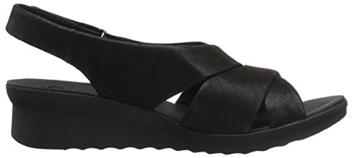 Caddell Synthetic Black Women's Sandal Clarks Nubuck Petal 5AWgHqxwn