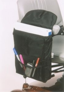 E-Wheels Large size Saddle Bag for Mobility Scooters in Black Color