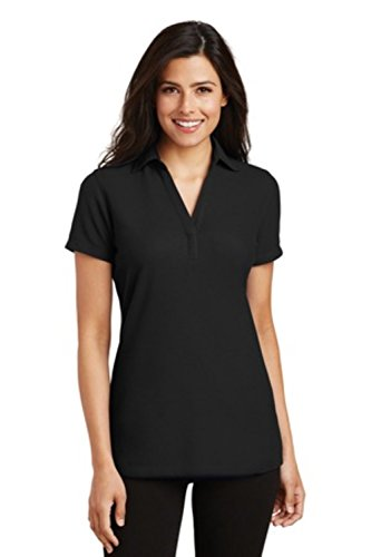 Port Authority Ladies Silk Touch Y-Neck Polo Shirt