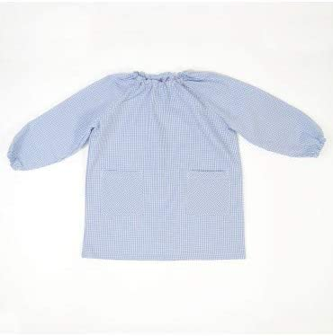 10XDIEZ Bata Escolar Unisex Celeste - Medida Bata Infantil - 0-2 años (86-92 cm de Altura): Amazon.es: Hogar