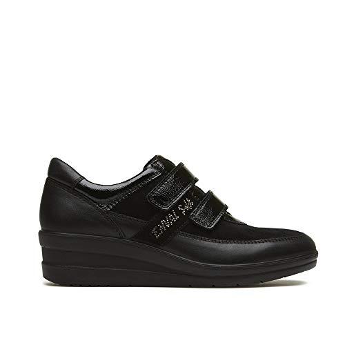 ENVAL SOFT 2267500 Mocassino Slip on Sneakers Zeppa Nero Donna  Amazon.it   Scarpe e borse ea0c4678489