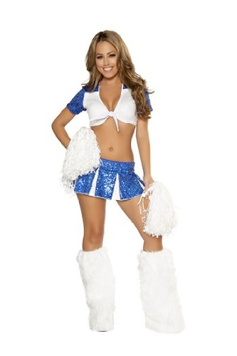 Cowboys Cheerleaders Costume (3pc Charming Cheerleader Costume)