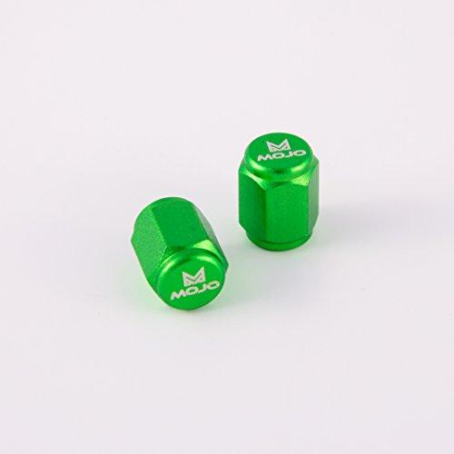 - MojoMotoSport Anodized Aluminum Valve Stem Caps (Green)