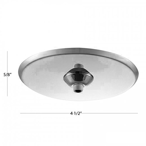 WAC Lighting QMP-1RN-TR-BN Surface Mount Canopy Metal for Quick Connect Pendants/Fixtures by WAC Lighting (Image #1)