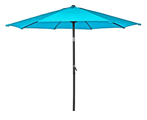 HERMO 758 Roun 7.5 Ft Outdoor Patio 8 Ribs Market Table Umbrella, Green ()