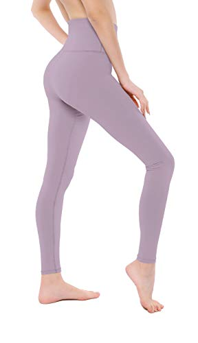 VISNXGI Women's Athletic Yoga Pants High Waist Tummy Control Tight Slimming Leggings for Fitness Running Activewear (Small), Lavender