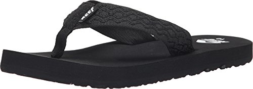 Reef  Men's Smoothy  Sandals , Black/Black-4 D(M) US by Reef