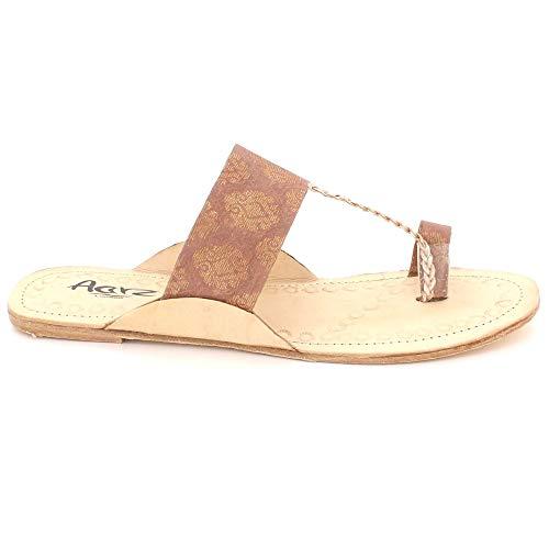 Glisser Dames Taille Open Authentique Plates Kolhapuri Femmes Pêche Toe Confort Décontractée Sandales Chappal Chaussures Sur T418nq