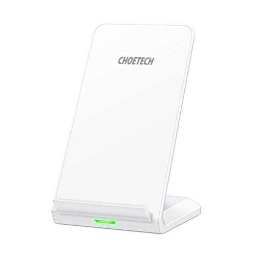 CHOETECH Fast Wireless Charger, Qi-Certified 10W Max Wireless Charging Stand, Compatible iPhone 11/11 Pro Max/XS Max/XR/XS/X/8/8 Plus, Galaxy Note 10/Note 10 Plus/S10/S10 Plus/S10E (No AC Adapter)