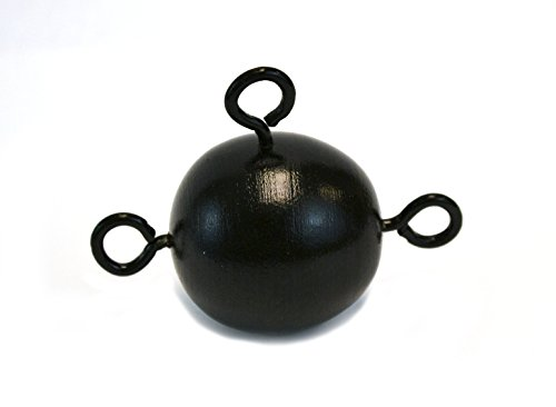 1 lb Painted Metal Inertia Ball with 3 fixed Eye bolts, Pendulum