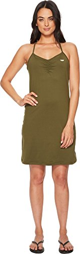 prAna Elixir Dress, Cargo Green, Small