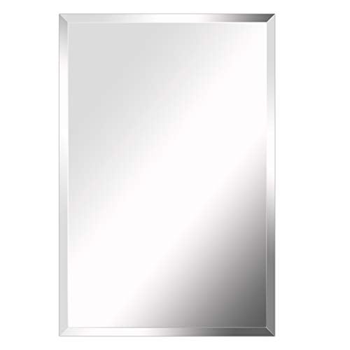 MIRROR TREND 20 x 30-Inch Premium Large Rectangular Frameless Wall Mirror with - Bathroom Mirrors 18 Wide Frameless