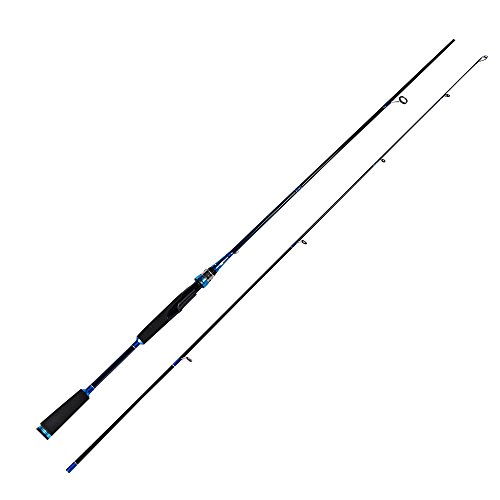 Entsport 2-Piece Spinning Rod Graphite Portable Spinning Fishing Rod Inshore Spinning Pole Freshwater Spin Rod (8-20-Pound Test) (New Style 7' Medium Heavy)
