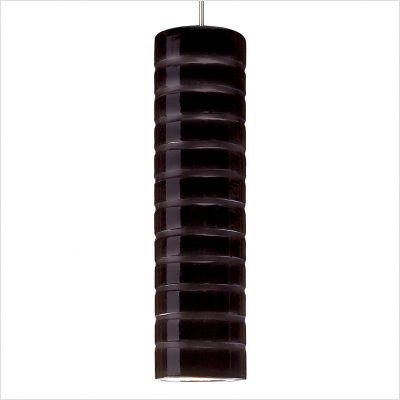 Strata 1 Light Mini Pendant Finish: Black Gloss, Canopy and Transformer: With (Pendant Mini Strata A19)