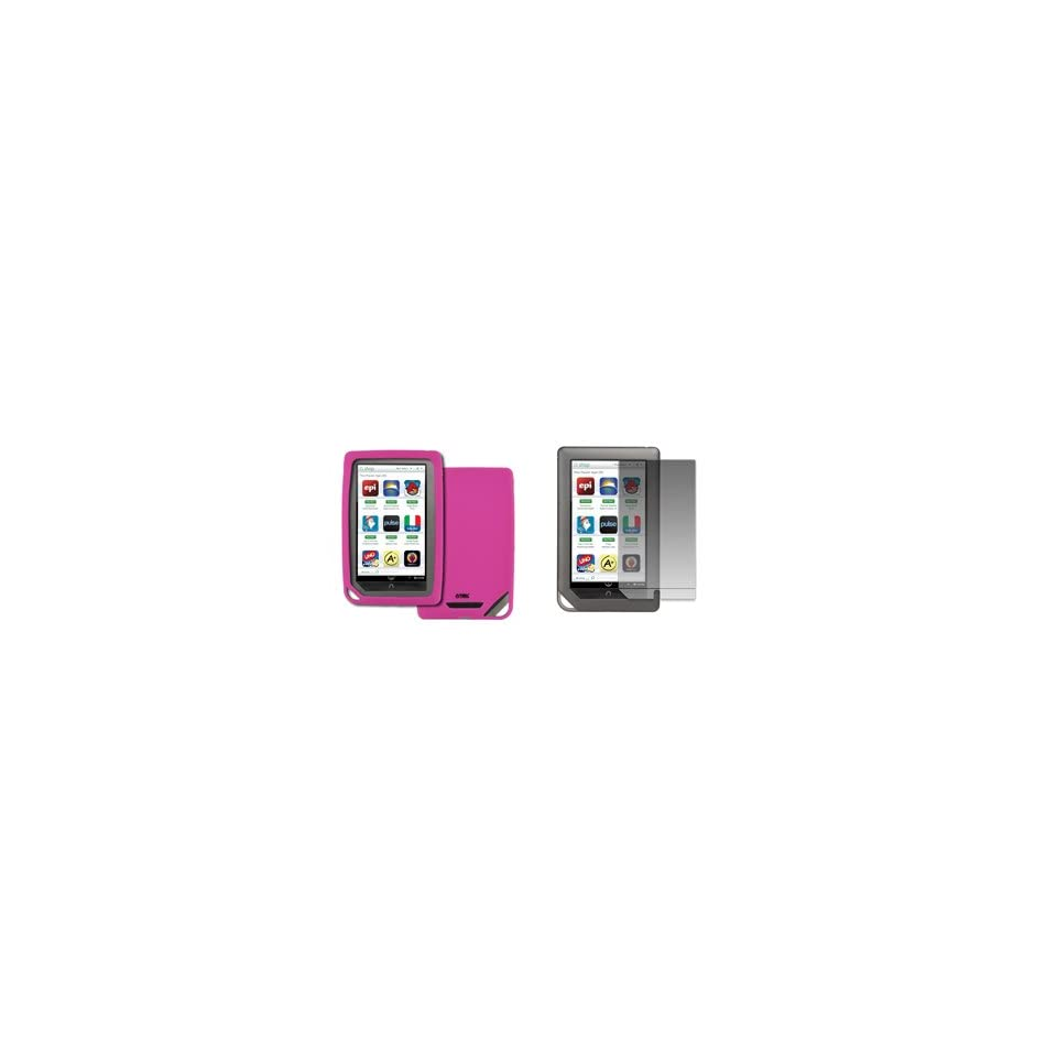 EMPIRE Barnes and Noble Nook Color Hot Pink Silicone Skin Case Cover + Screen Protector [EMPIRE Packaging]
