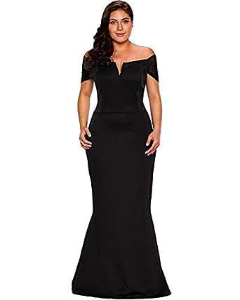 LALAGEN Women\'s Plus Size Off Shoulder Long Formal Party Dress Evening Gown
