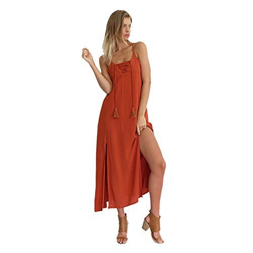 Philip Double Sexy Dos Size Hors Robe Femmes Orange Longue Haute Nu paule Fendue XL Color Peacoc r0xqTHEr