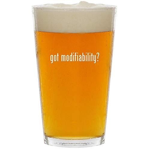 - got modifiability? - Glass 16oz Beer Pint