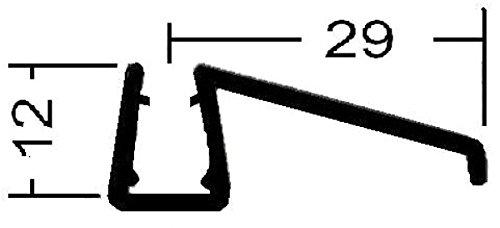Universal Wasserabweisprofil Typ SIGGI, gerade, 1000 mm lang, fü r 6 + 8 mm Glasstä rke Dichte Dusche