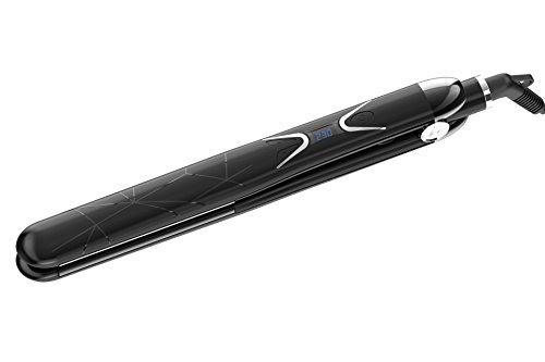 Amaxy Professional Titanium Hair Straightener Flat Iron 1 inch – Instant heating in 30 seconds – Frizz free – Single pass – 100 Pure Titanium