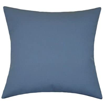 TPO Design Sunbrella Sapphire Blue Indoor/Outdoor Solid Pillow 16x16: Home & Kitchen