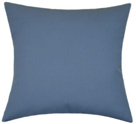 Sunbrella Sapphire Blue Indoor/Outdoor Solid Patio Pillow 20x20
